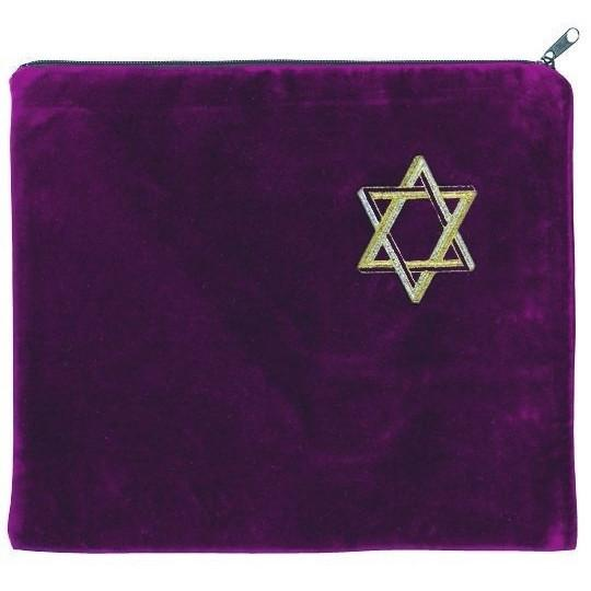 Tallit Bag Star Of David Carrying Case Black Medium