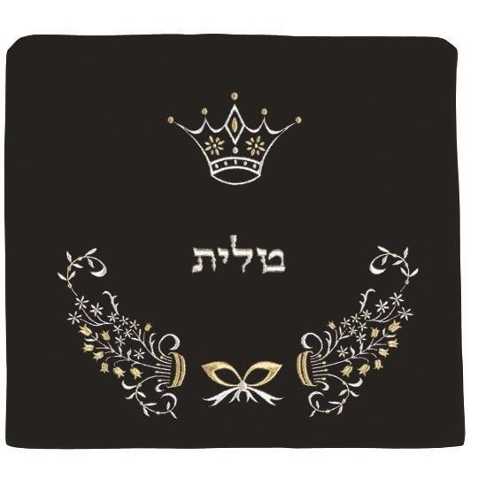 Tallit Bag - Velvet Bow & Crown