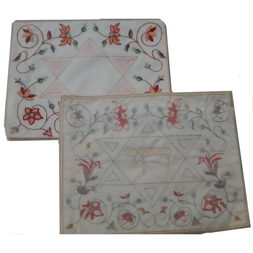 Tallit Bags Embroidered Star of David Final Stock ! Peach