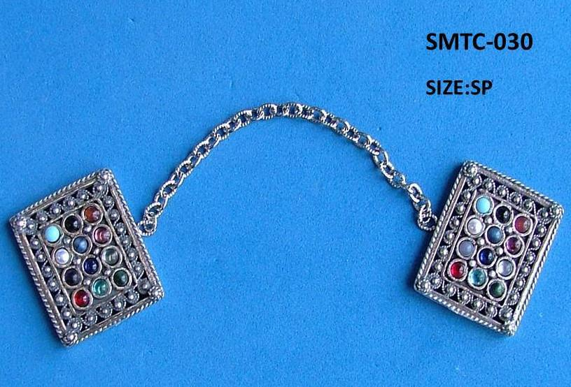 Tallit Clips Sterling Silver Filigree Hoshen Breastplate