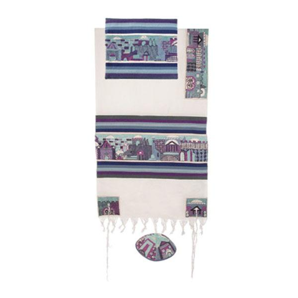 "Tallit - Hand Embroidered - 42"" - Jerusalem -"