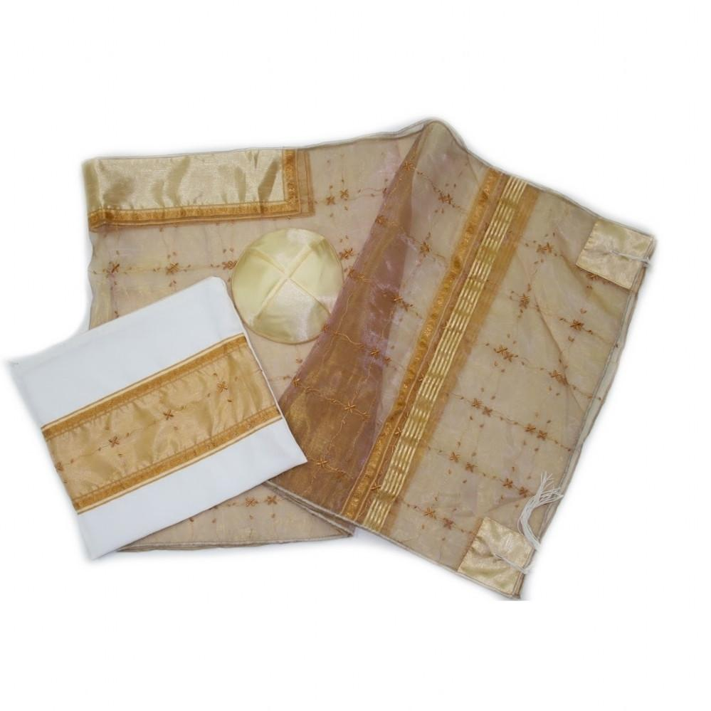 Tallit - Organza Peach Orange