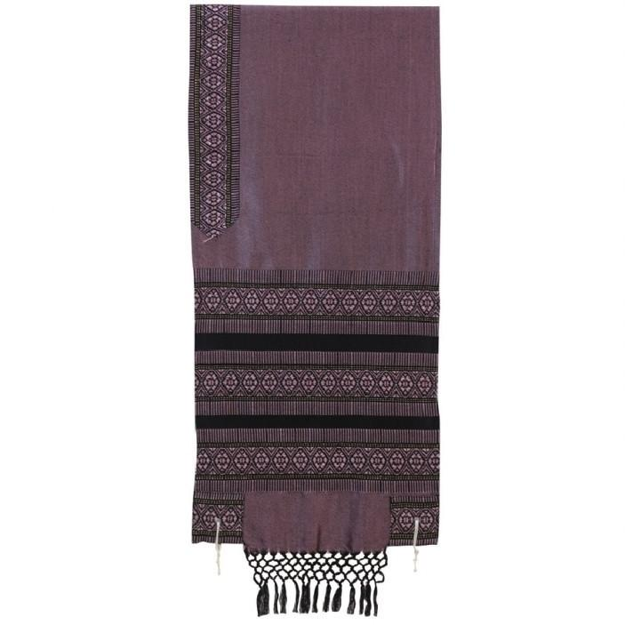 Tallit Set - Hand Woven Wool Antique Pink