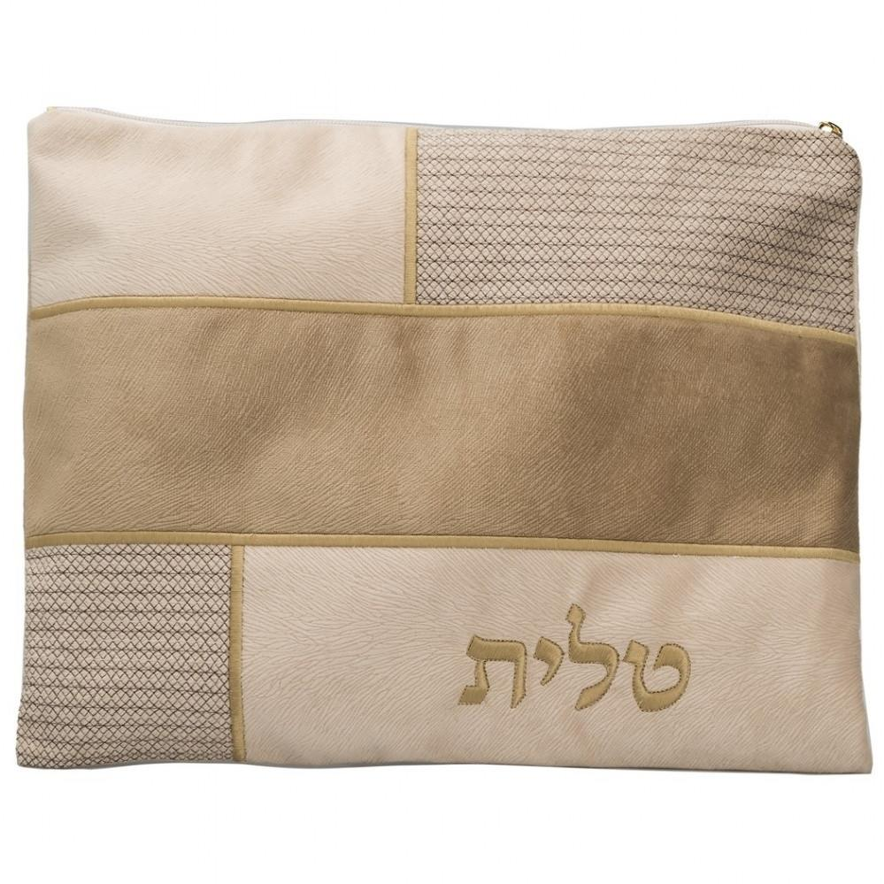 Tallit & Tefillin Bags Suede Leather Bronze & Grey