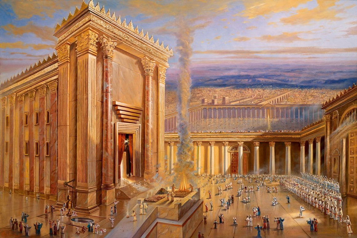 The Second Holy Temple in Jerusalem Art Work