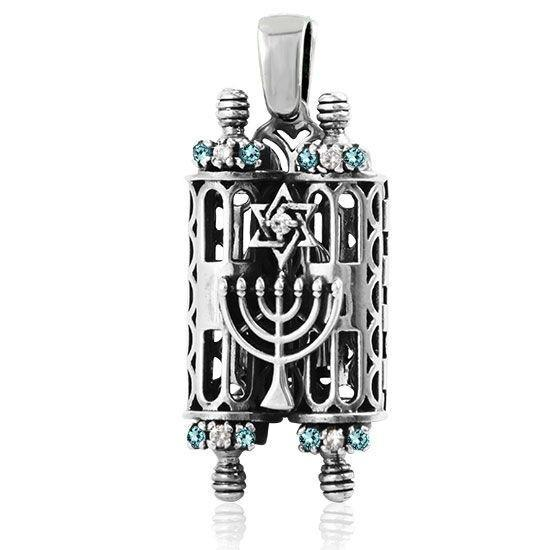 Torah Ark Jewelry Pendant - Opens Up ! 18 inches Chain (45 cm)