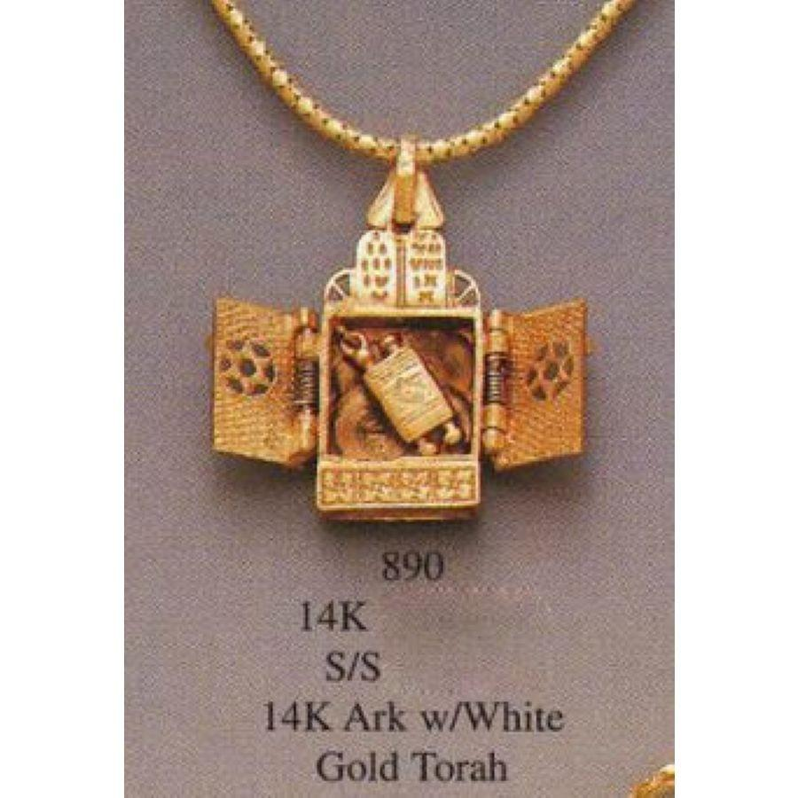 Torah Ark Necklace Pendant