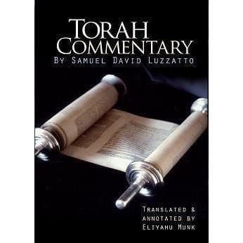 Torah Commentary By Samuel David Luzzatto, 4 Vols.