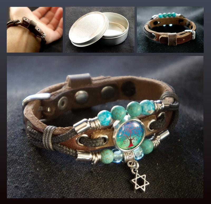 Tree Of Life Bracelet Turquoise Gemstone Beads For Him