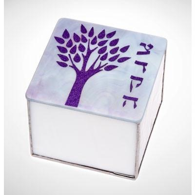 Tree Of Life Glass Tzedakah Box