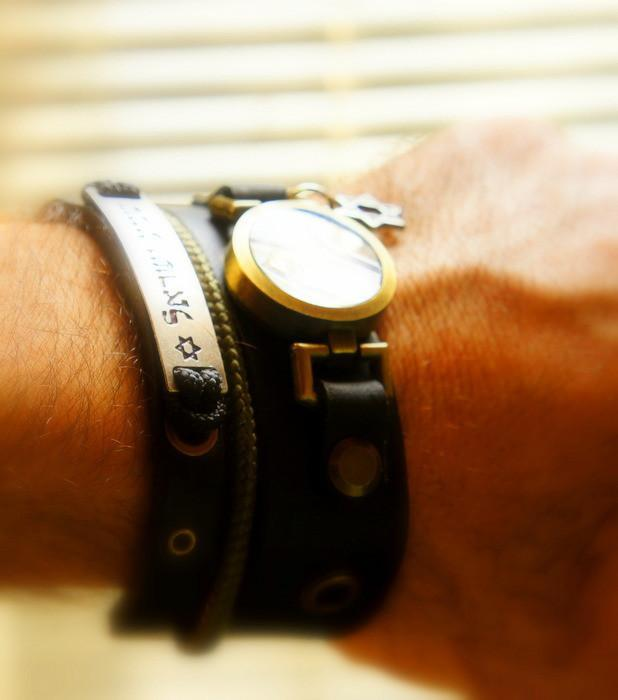 Triple Shema Yisrael Bracelet With Idf (Israel Defense Forces) For Him