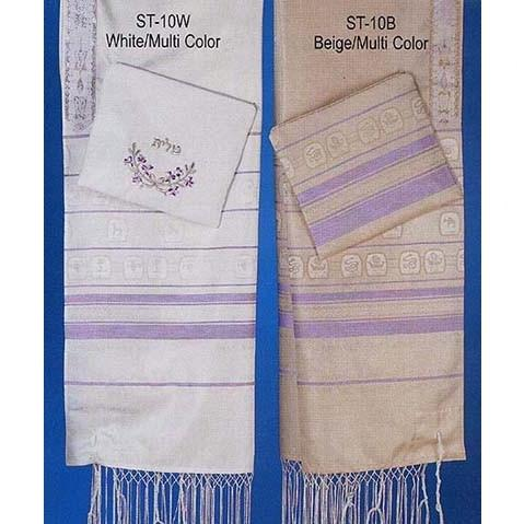 "Twelve Tribe Color Tallit Collection 18"" x 72"" (45/180 cm) Add Carry Bag"