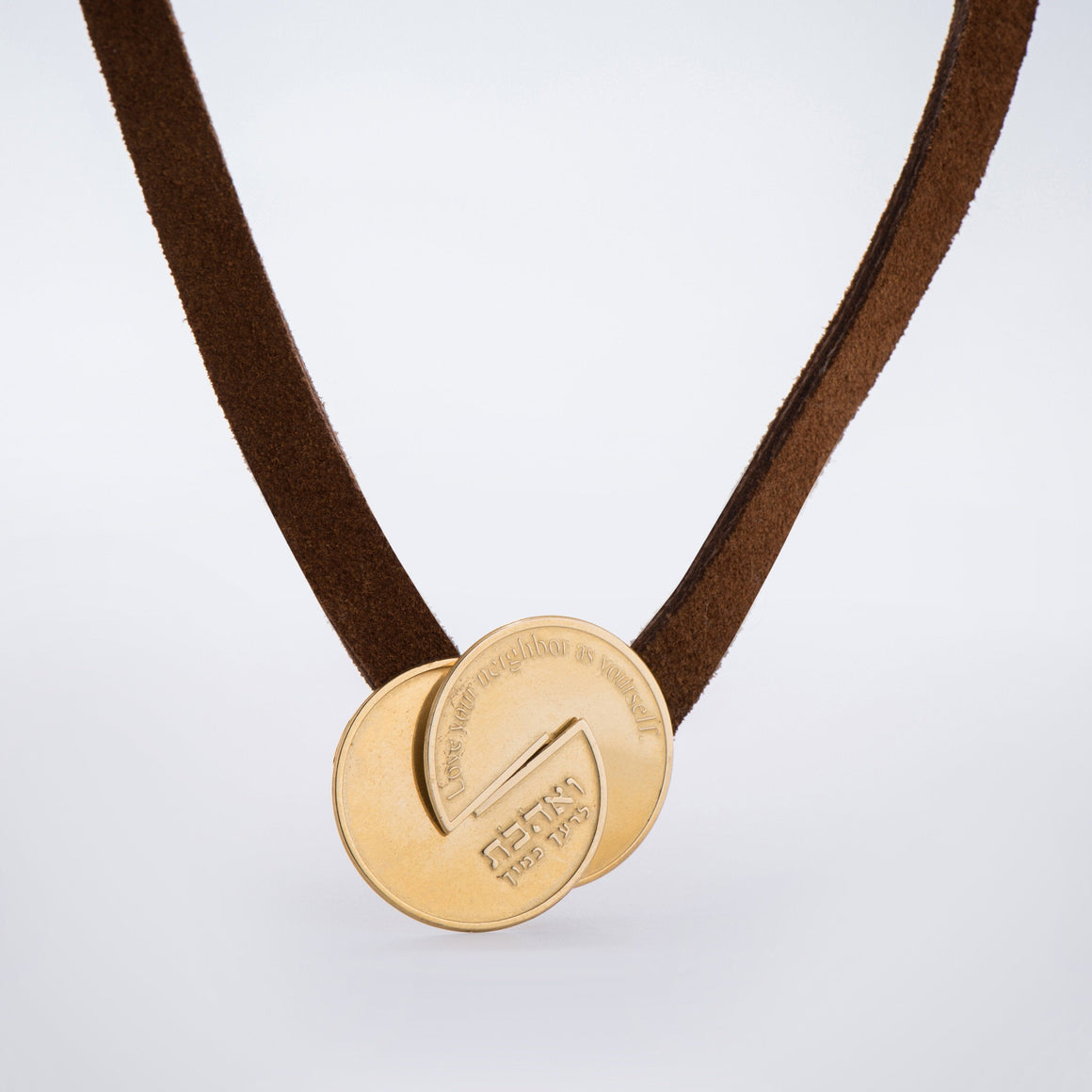 Unisex Necklace, Leather Necklace, Gold Necklace,