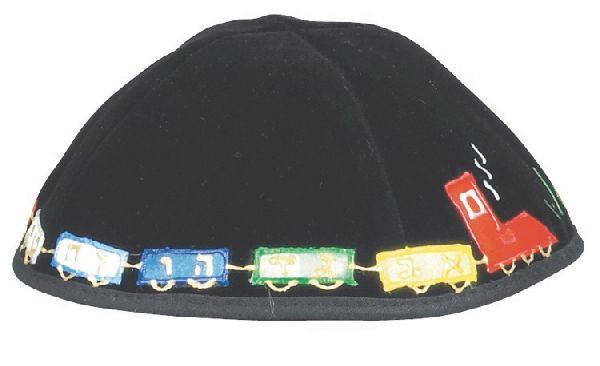 Velvet Applique Train. Available In Black/Navy.