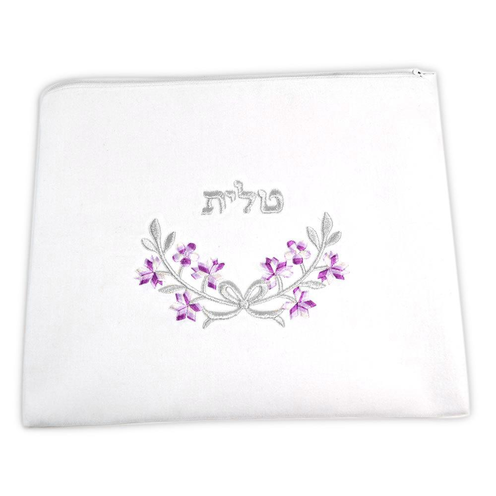 Violet And Silver Floral Talis Bag Violet And Silver Floral Talis Bag
