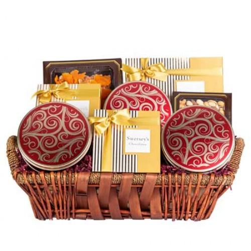 VIP Executive Gift Basket Dried Fruits & Nuts Gift Basket