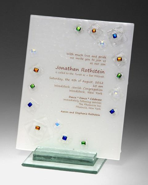 Wedding Invitation Glass Framed Shards Celestial