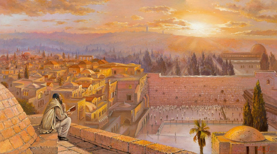 Welcoming the sunrise in Jerusalem