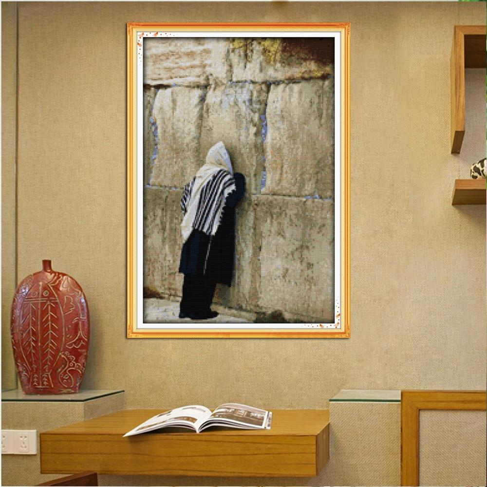 Western Wall Kotel Needle Point Embroidery Wall Art Kit art