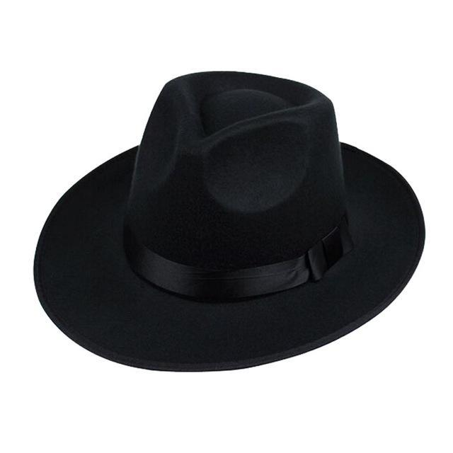 Wide Brim Fedora Hat For Men In Black / Gray / Brown apparel