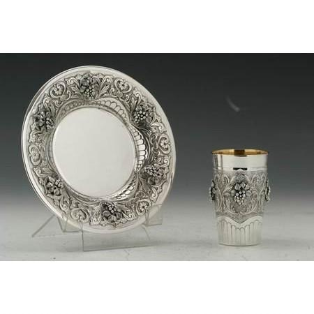 Wine Becher Cup & Saucer Set
