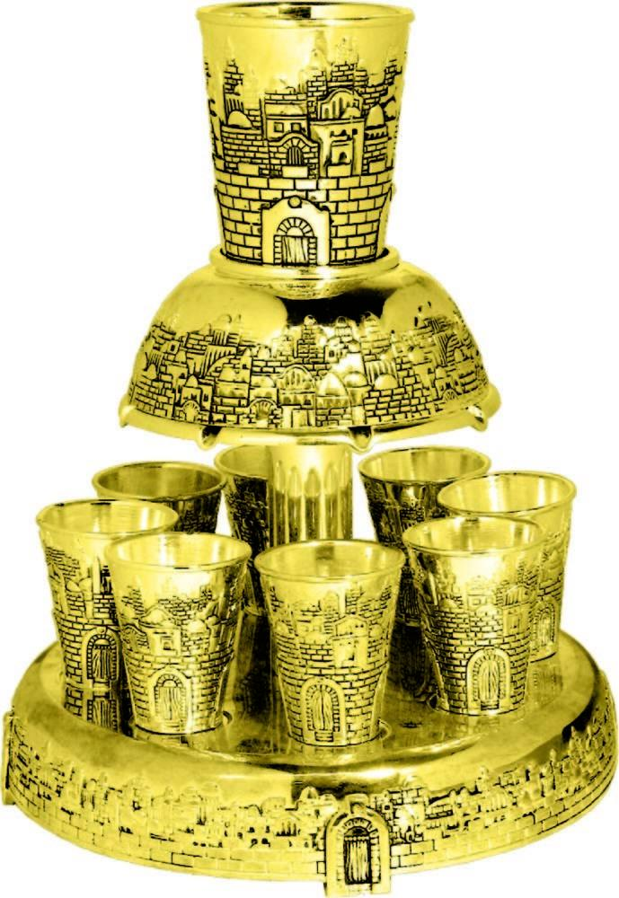 Wine Divider Jerusalem 8 Cups Gold