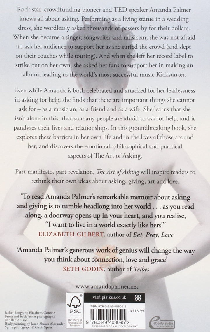 The art of asking paperback book signed amanda palmer ukeu store the art of asking paperback book signed fandeluxe Image collections