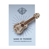 """Wand of Thunder"" pin badge"