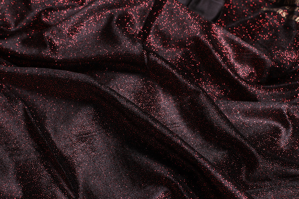 ZXQ391 Thin and Soft Sparkle Red Velvet