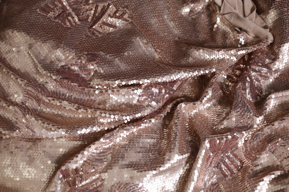 ZXQ529 Bronze Sequined Spandex