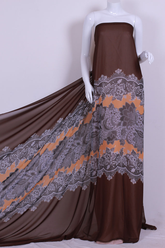 CHP038 Variegated Brown Chiffon