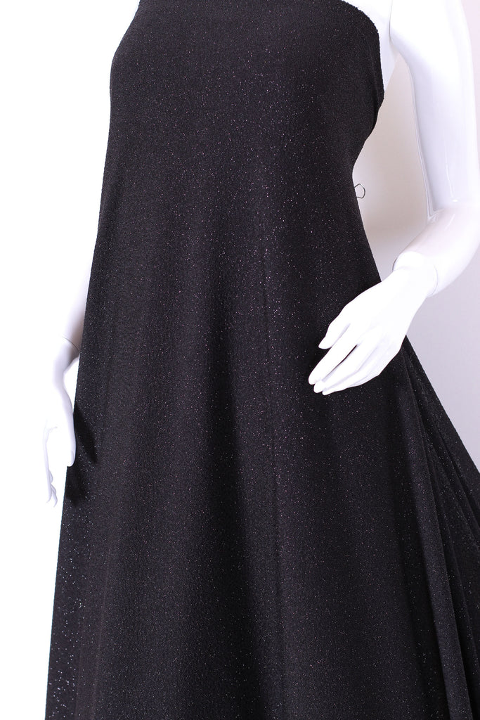 ZXQ296 Thin and soft sparkle black spandex