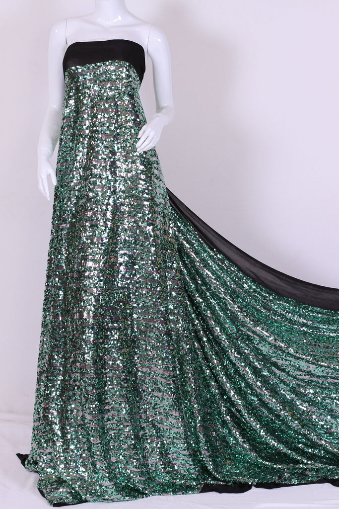 ZXQ267 Two Colored Sequined Stretch