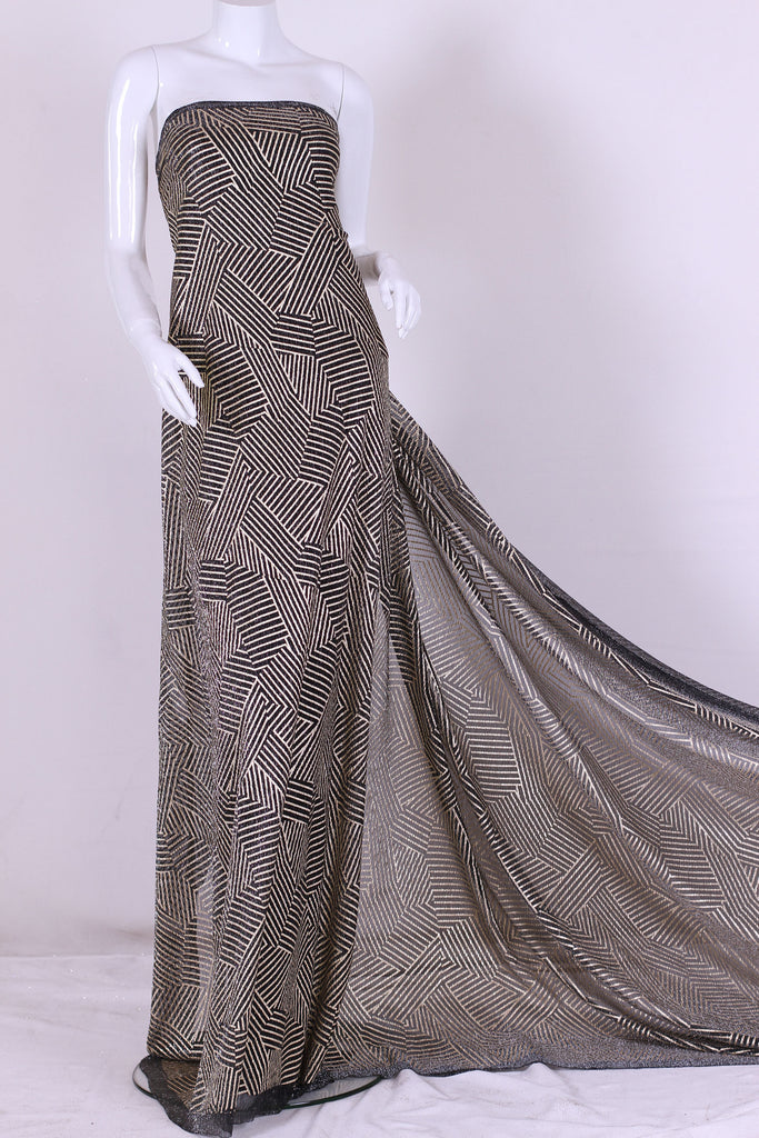 ZXQ273 Stretch Golden Gray Tulle