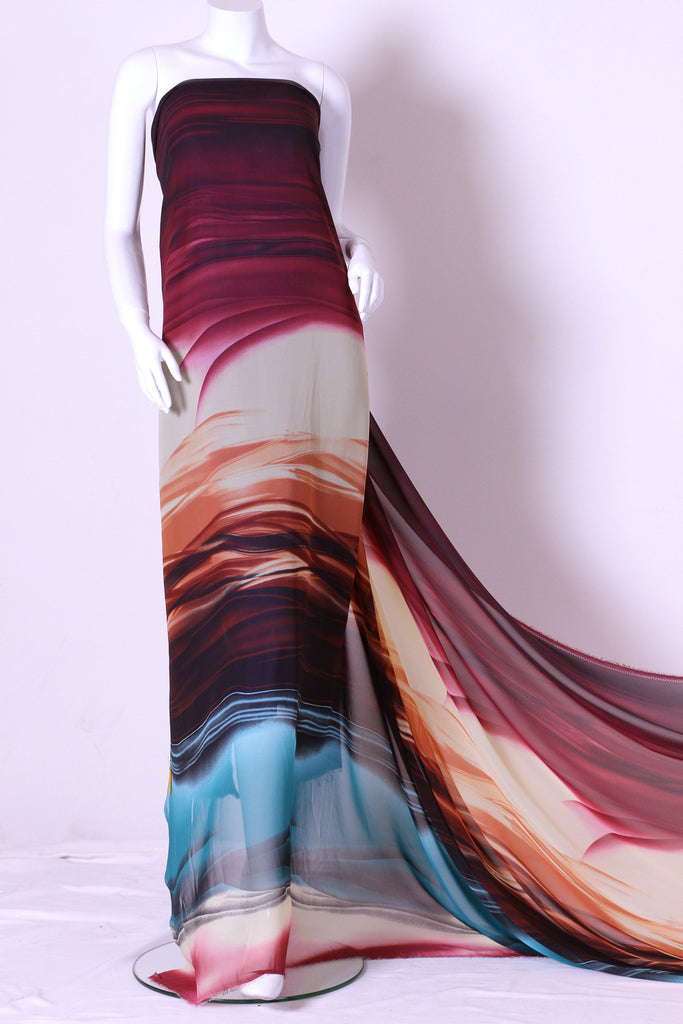 ZXQ416 Multi-colored Chiffon