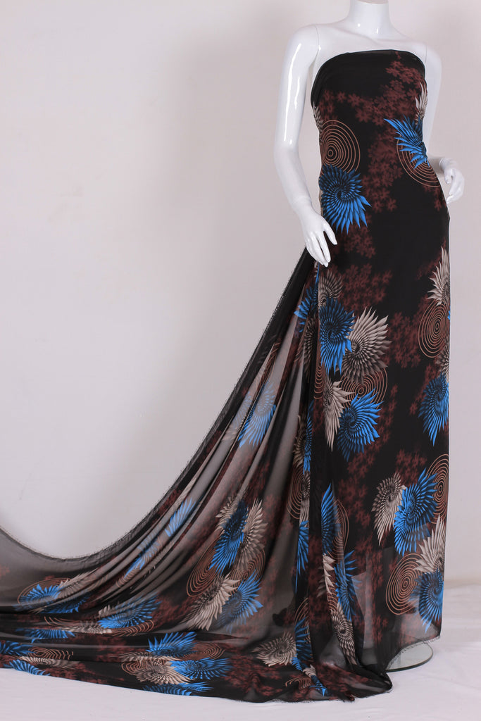 ZXQ367 Dark Brown Chiffon