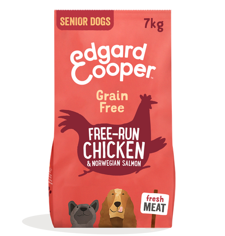 Edgard & Cooper Chicken & Norwegian Salmon Grain Free Senior Dog Food 7kg