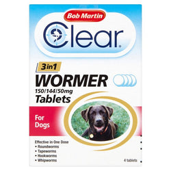 Bob Martin 3 In 1 Dog Wormer Large Dogs <40kg - 4 Tablets