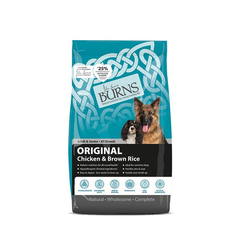 Burns Original Chicken & Brown Rice Adult & Senior Dog Food 15kg
