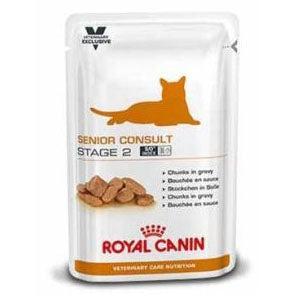 Royal Canin VCN Senior Consult Stage 2 Wet Pouches Cat Food 100g x 12