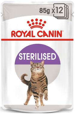 Royal Canin Sterilised Adult In Jelly Wet Cat Food Pouches 85g x 12