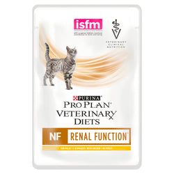 PRO PLAN VETERINARY DIETS Feline NF Renal Function Cat Food 85g x 10 Pouches with Chicken