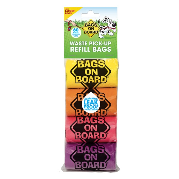 Bags on Board Poo Bags  Patterned 60 Bags