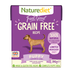 Naturediet Feel Good Grain Free Puppy Wet Dog Food Cartons 390g x 18 Feel Good