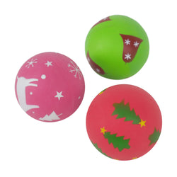 Rosewood Festive Rubber Ball Dog Toy Random Colour