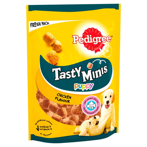 Pedigree Tasty Minis Chicken Puppy Treats 125g x 8 SAVER PACK