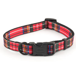 Ancol Red Tartan Nylon Dog Collar Size 2-5 Red
