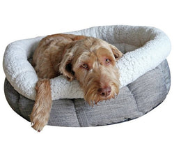Rosewood Deep Tweed Oval Teddy Bear Dog Bed 20 inch