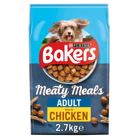 Bakers Meaty Meals Chicken Dry Adult Dog Food 2.7kg