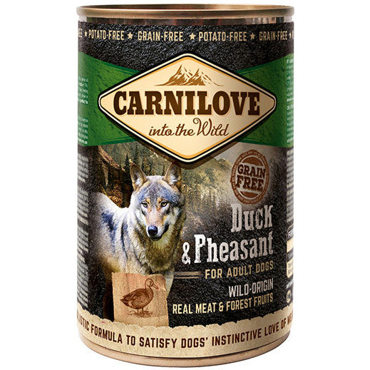 Carnilove Duck & Pheasant Adult Dog Food 400g x 6